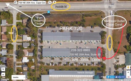 Mattress Outlet of Cape Coral, Map